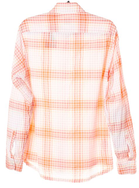 BOSS HUGO BOSS Pink Plaid Button Down Blouse