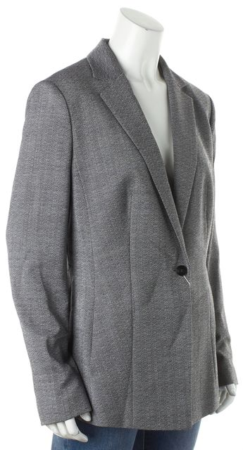 BOSS HUGO BOSS Gray Wool Jalesa Textured Career Blazer