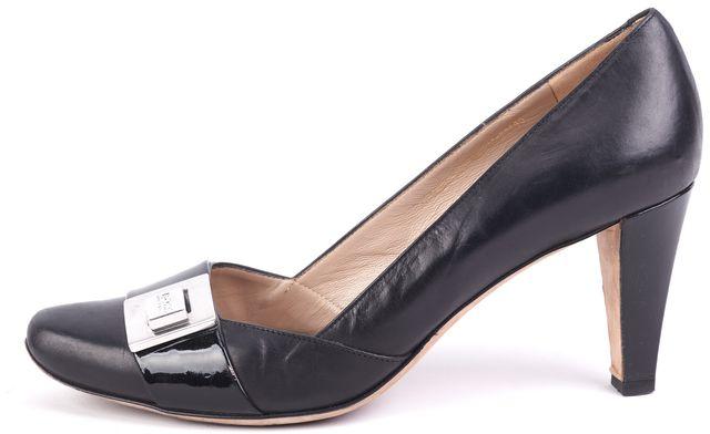 BOSS HUGO BOSS Black Leather Pump Heels