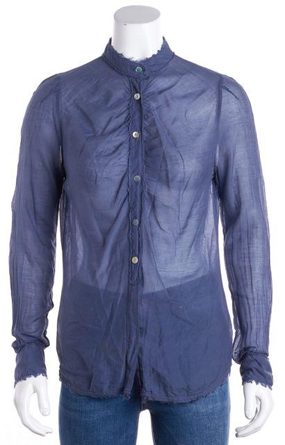 BOSS HUGO BOSS Blue Long Sleeve Button Down Shirt Blouse