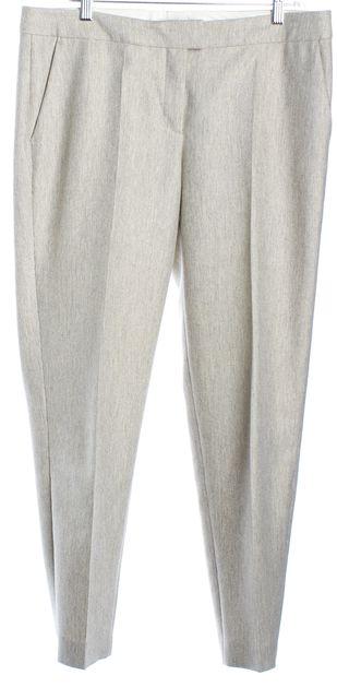 BOSS HUGO BOSS Light Beige Gray Slim Straight Dress Pants