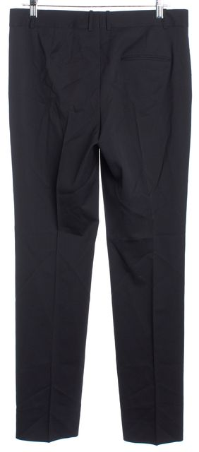 BOSS HUGO BOSS Black Gray Pent Striped Button Front Wool Dress Pants