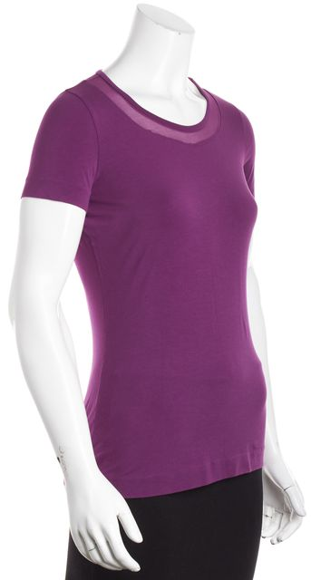 BOSS HUGO BOSS Purple Short Sleeve Basic Tee T-Shirt