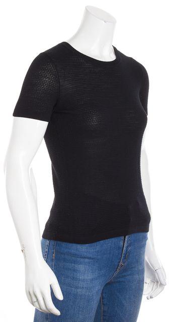 BOSS HUGO BOSS Black Short Sleeve Knit Top