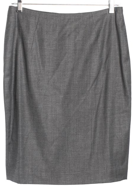 BOSS HUGO BOSS Dark Gray Straight Skirt