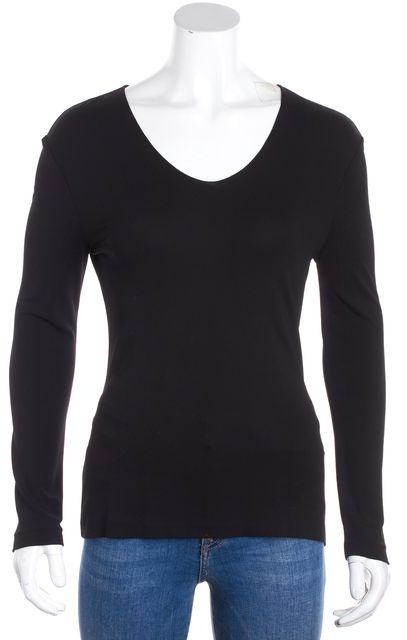 BOSS HUGO BOSS Black V-Neck Long Sleeve Blouse