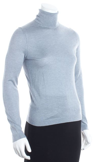 BOSS HUGO BOSS Gray Silk Turtleneck Sweater