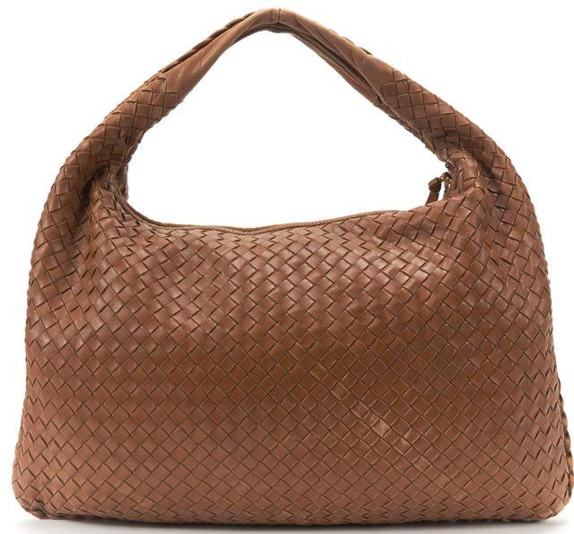 BOTTEGA VENETA Brown Intrecciato Leather Large Hobo Bag