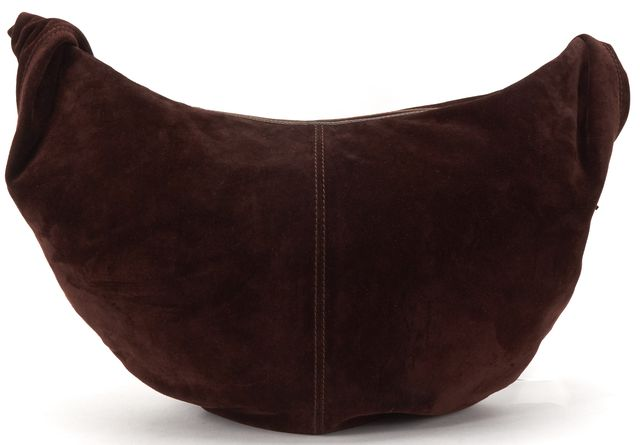 BOTTEGA VENETA Brown Suede Hobo Woven Strap Shoulder Bag