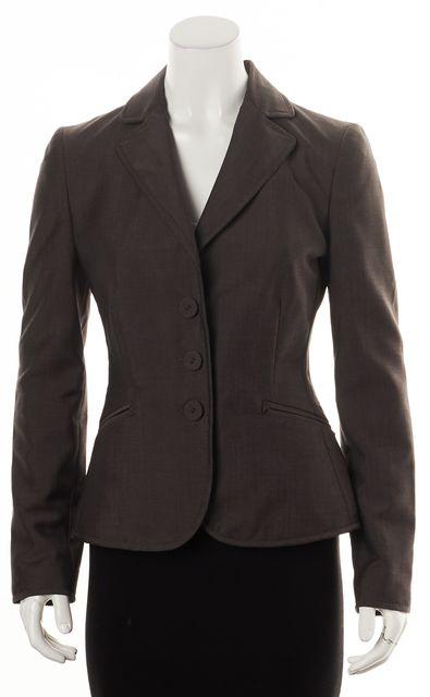 BOTTEGA VENETA Brown Wool Triple Button Blazer
