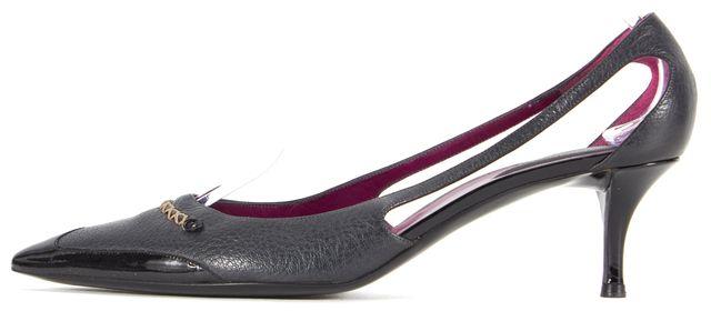 BOTTEGA VENETA Black Leather Pointed Toe Heels