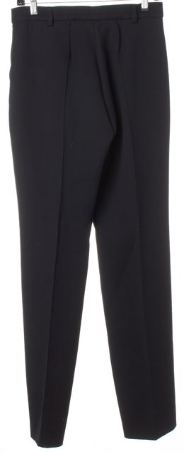 BOTTEGA VENETA Black Wool Front Pleated Trousers Pants
