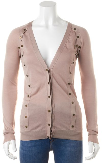 BURBERRY PRORSUM Purple Silk Knit Cardigan