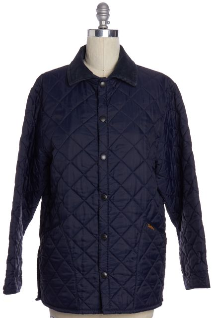 BARBOUR Navy Blue Quilted Puffer Jacket