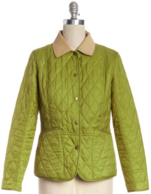 BARBOUR Green Quilted Basic Jacket