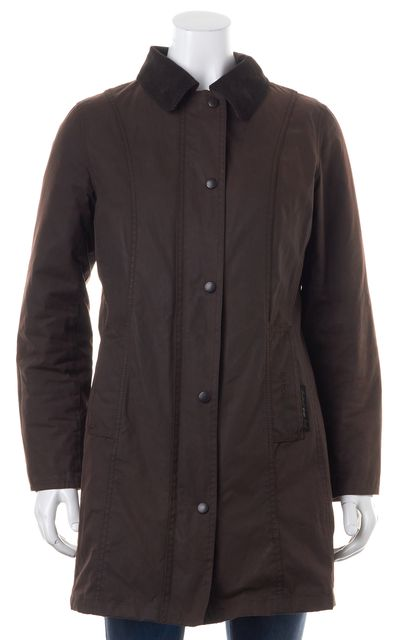 BARBOUR Waxed Cotton Brown Basic Jacket US 6 UK 10