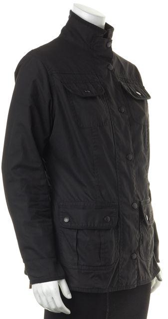 BARBOUR Black Coated Cotton Ladies Utility Basic Jacket