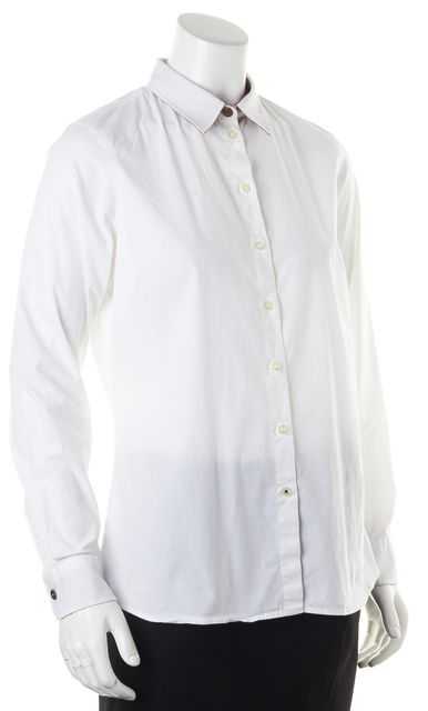 BARBOUR White Cotton Long Sleeve Button Down Shirt
