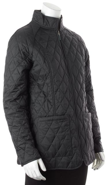 BARBOUR Dark Navy Blue Quilted Zip Up Jacket