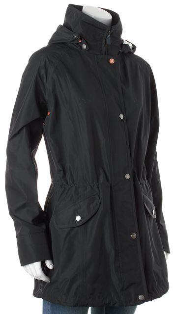 BARBOUR Dark Navy Blue Waterproof Hooded Zip Up Raincoat