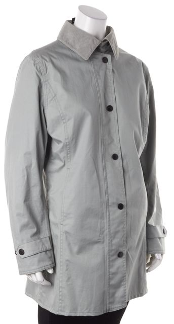 BARBOUR Blue Gray Light Weight Market Zip-Up Jacket