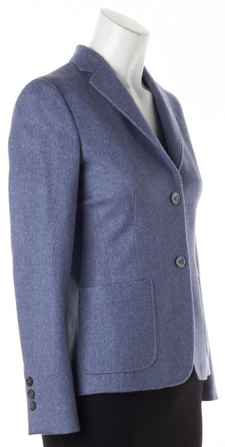 BROOKS BROTHERS Blue Wool Two Button Blazer