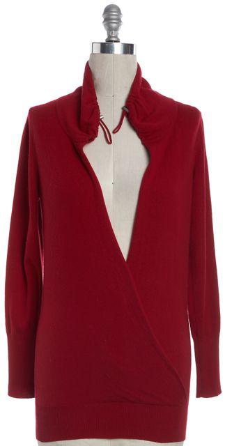 BRUNELLO CUCINELLI Red Cashmere Wrap Sweater