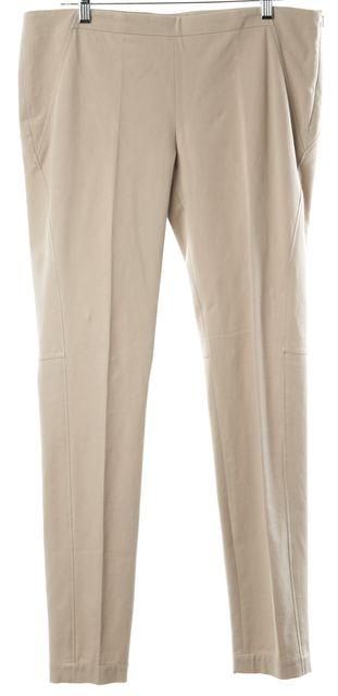 BRUNELLO CUCINELLI Beige Casual Slim Fit Skinny Leg Trouser Dress Pants