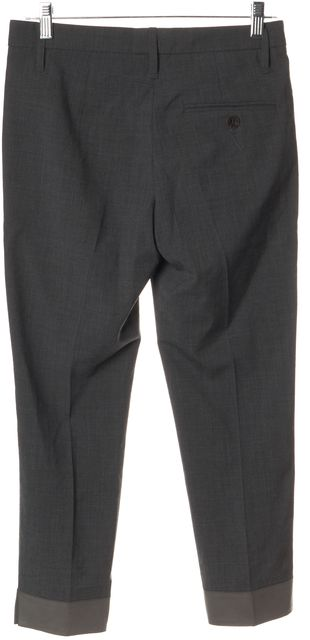 BRUNELLO CUCINELLI Gray Wool Blend Capris, Cropped Pants