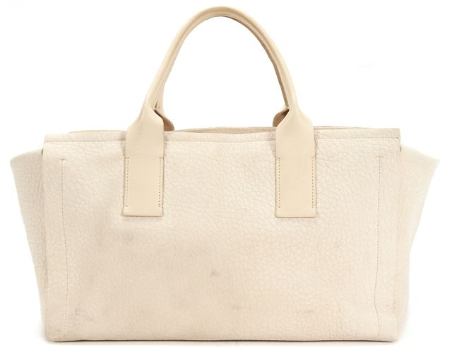 BRUNELLO CUCINELLI Ivory Textured Leather Tote Handbag