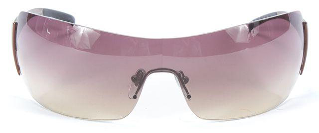 BVLGARI Brown Gradient Rimless Shield Sunglasses