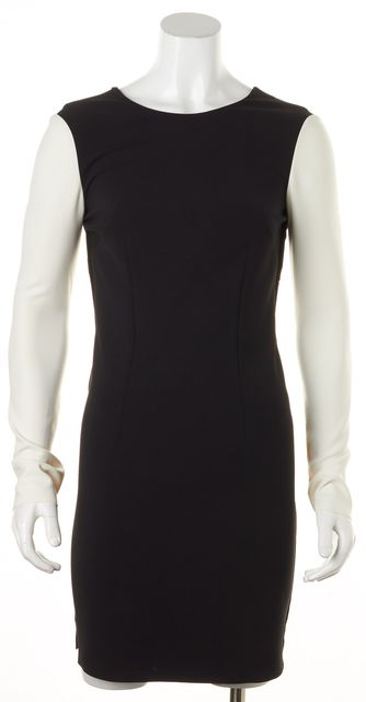 CEDRIC CHARLIER Black Ivory Color Black Low Back Sheath Dress