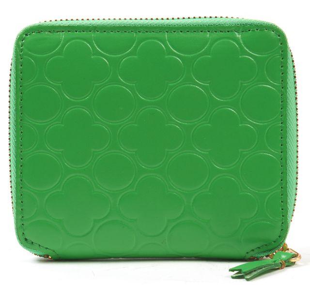 COMME DES GARÇONS COMME DES GARÇONS Green Embossed Leather Zip Around Wallet