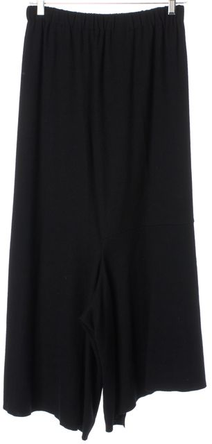 COMME DES GARÇONS Black Wool Elastic Waist Gaucho Pants