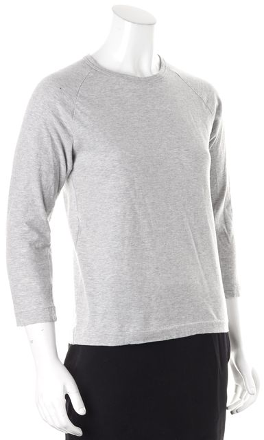 COMME DES GARÇONS Heather Gray 3/4 Sleeve Crewneck Basic Tee T-Shirt