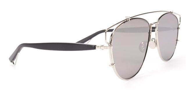 CHRISTIAN DIOR $599 Silver Wire Mirror Lens Technologic Aviator Sunglasses