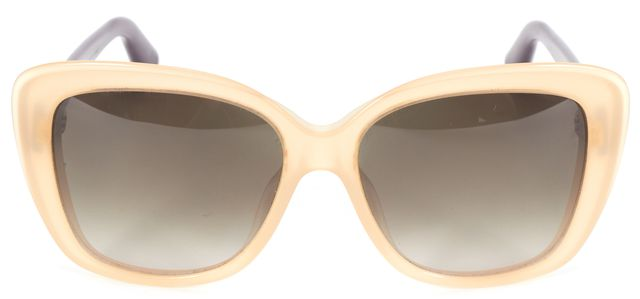 DIOR CHRISTIAN DIOR Beige Purple Colorblock Promesse 2 Square Sunglasses