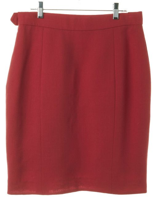 DIOR CHRISTIAN DIOR Pink Wool Pencil Skirt