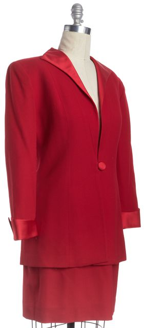DIOR Red Wool Dress Suit Set