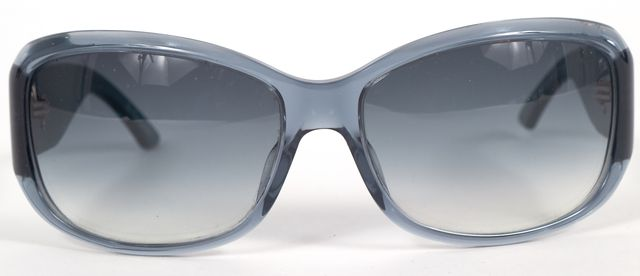 DIOR Transparent Blue Acetate Frame Rectangular Gradient Lens Sunglasses
