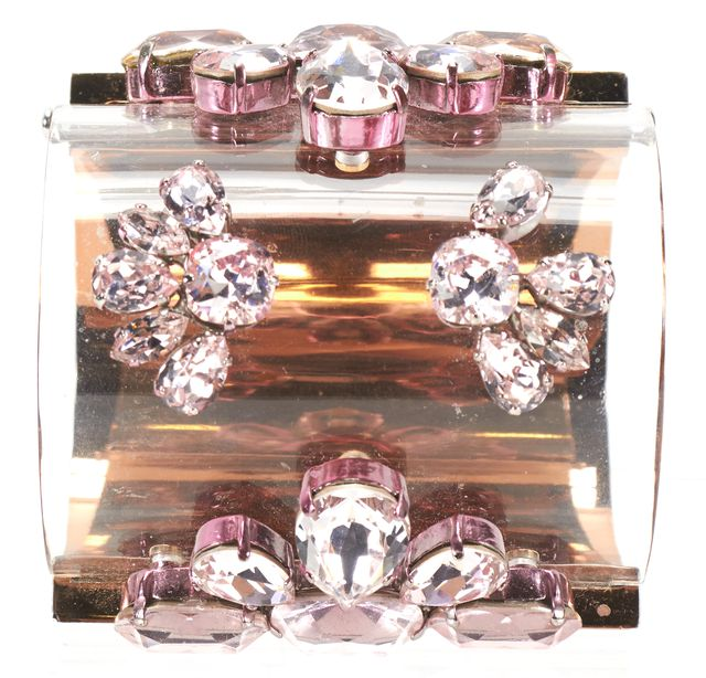 DIOR Gold Pink Acetate Metal Jewel Embellished Cuff S/S 2013