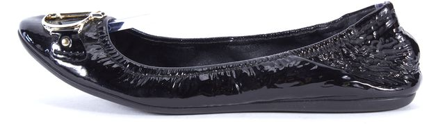 DIOR Black Patent Leather Silver CD Hardware Ballet Flats