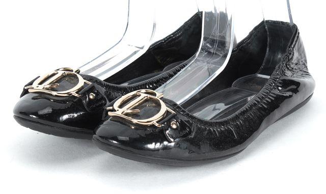 DIOR Black Patent Leather Ballet Flats