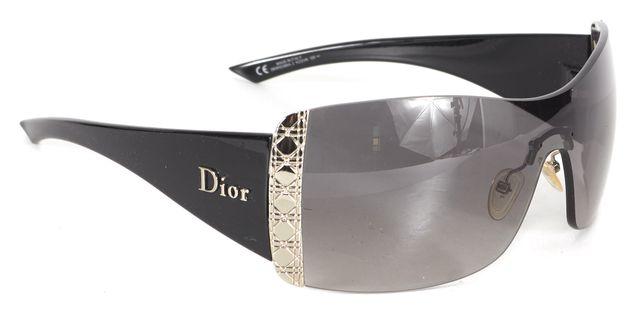 DIOR Black Silver Quilted Diorissima 2 Shield Sunglasses