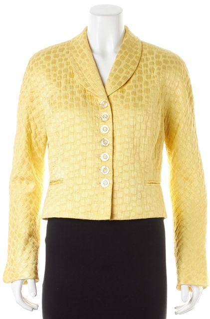 DIOR Yellow Textured Cotton Blazer Jacket