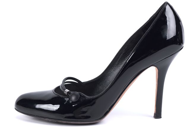 DIOR Black Patent Leather Mary Jane Heels