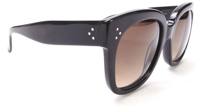 CELINE Black Acetate Frame Gradient Lenses Oversized Sunglasses w/ Pouch