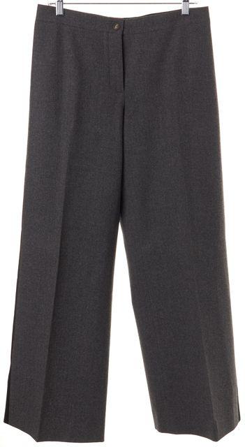 CÉLINE Gray Wool Tuxedo Stripe Wide Leg Trouser Pants