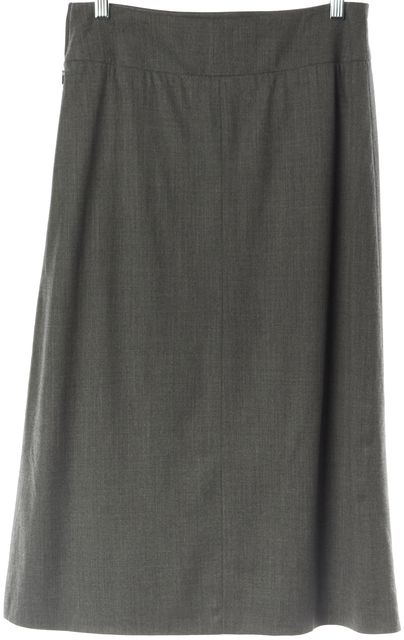 CÉLINE Charcoal Gray Casual Straight Career A-Line Flare Bottom Skirt