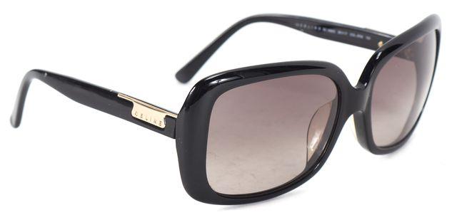 CÉLINE Black Rectangular Acetate Frame Gradient Lens Sunglasses w Case